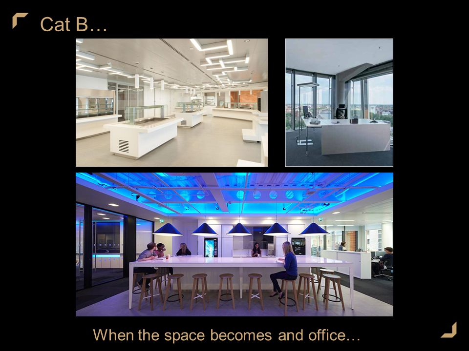 Cat B… When the space becomes and office…