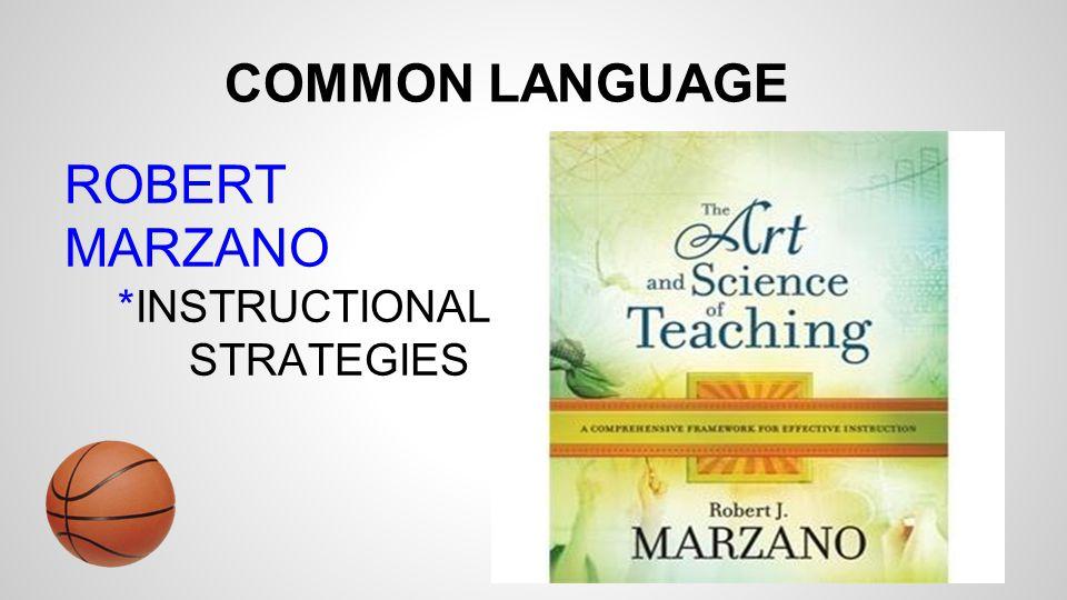 COMMON LANGUAGE ROBERT MARZANO *INSTRUCTIONAL STRATEGIES