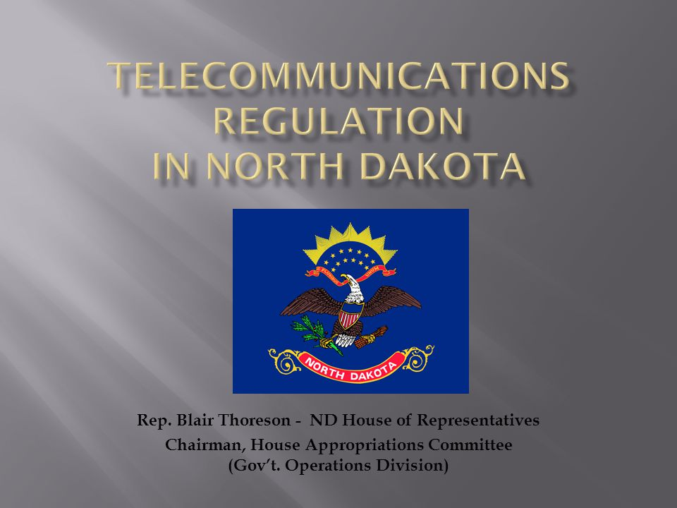  Prior to 1983, the ND Public Service Commission regulated most aspects of telecommunications on the state as traditional public utilities.
