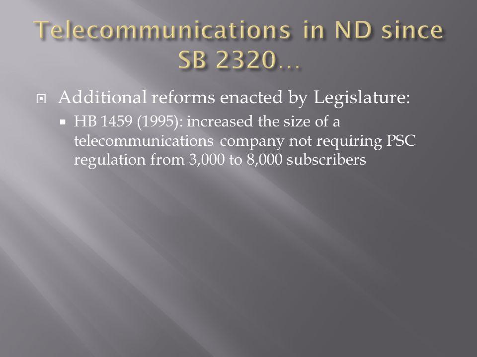  SB 2420 (1999): legislation rebalanced rates in an revenue neutral manner.