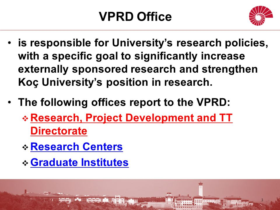 VPRD - Research, Project Development and TT Directorate