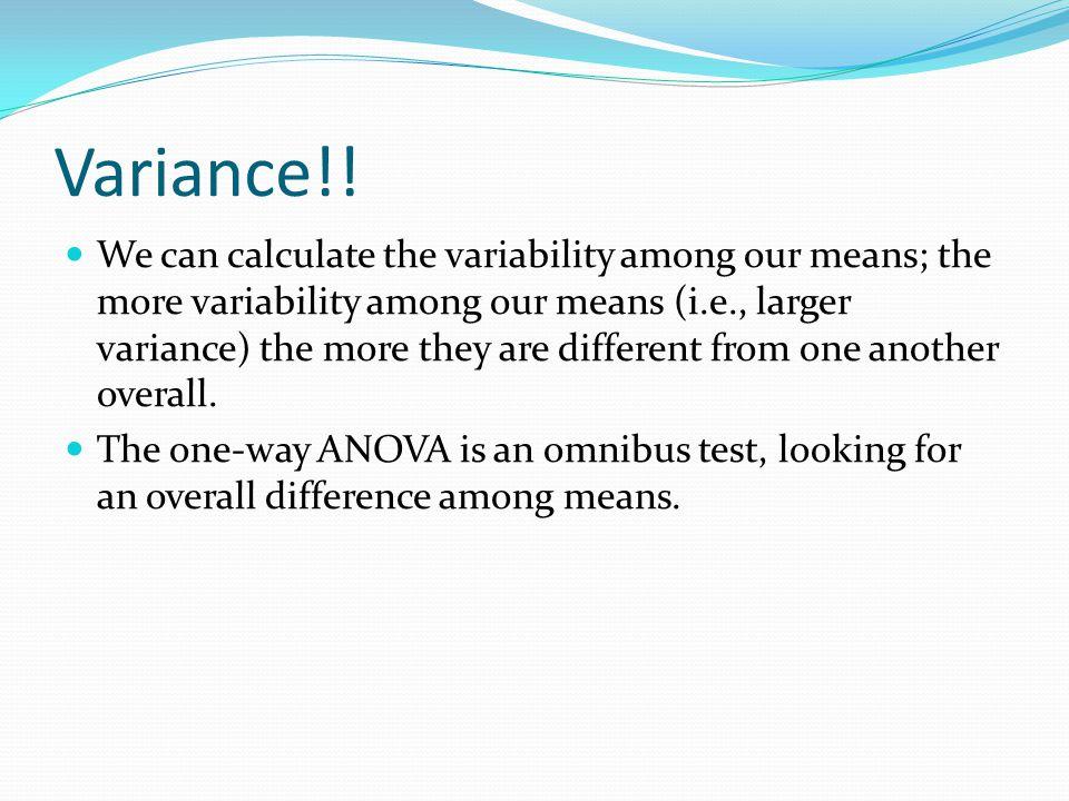 Variance!.