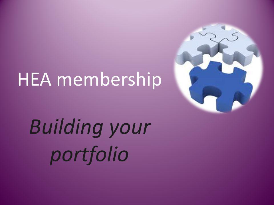 HEA membership Building your portfolio