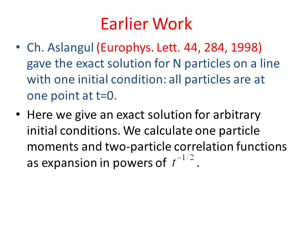 Single Particle Solution