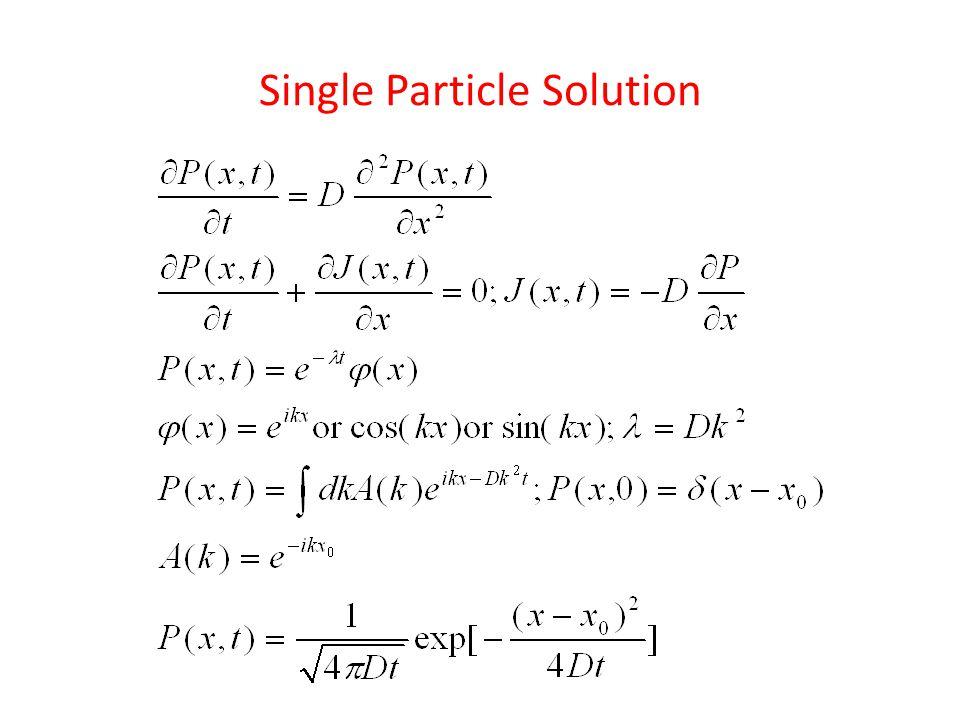Single Particle Diffusion