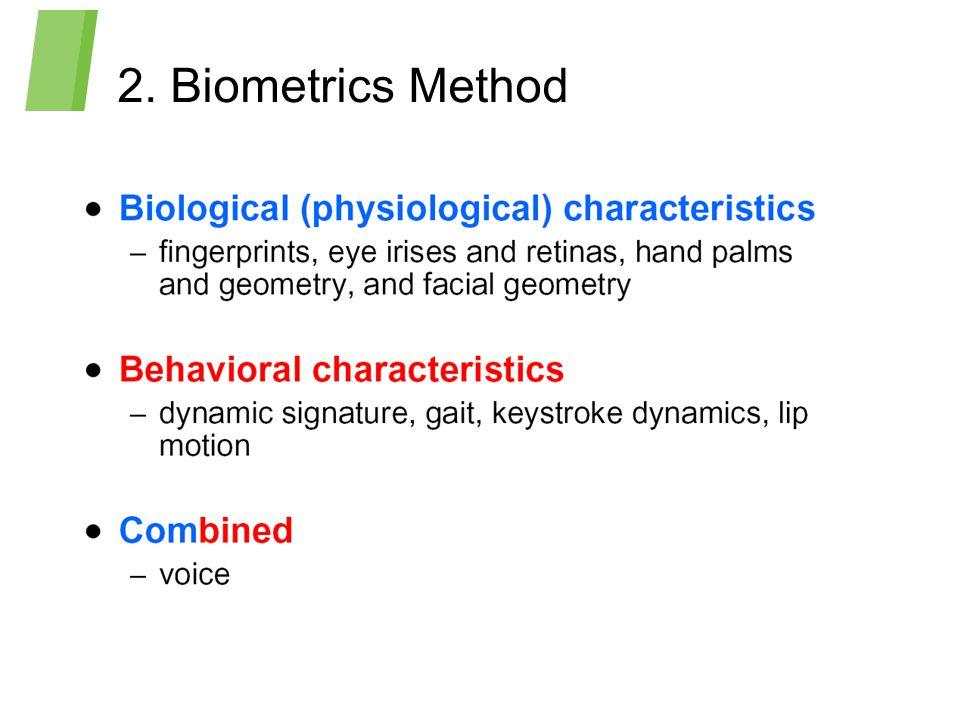 2. Biometrics Method