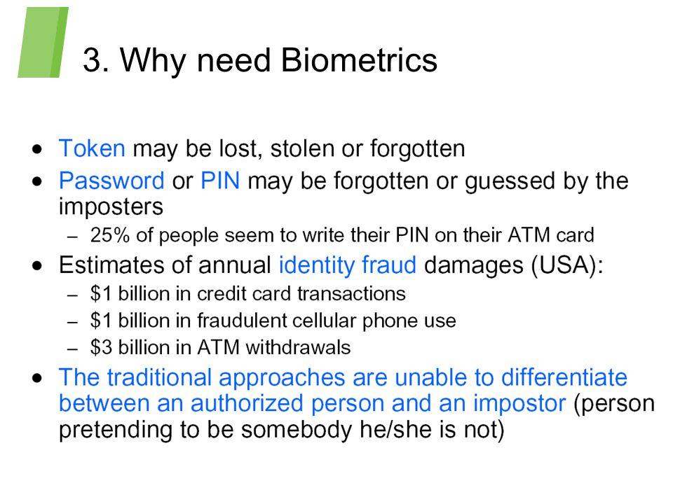 3. Why need Biometrics