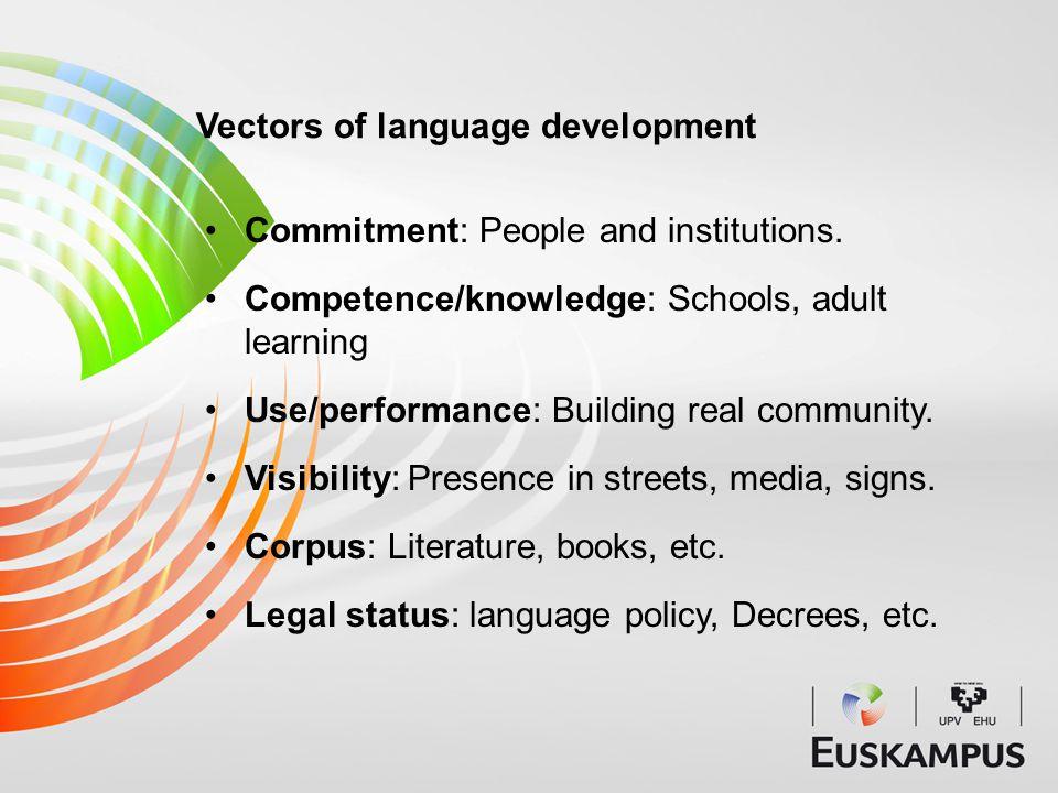 New energy: Strengthening of community ties; increasing social vigour.