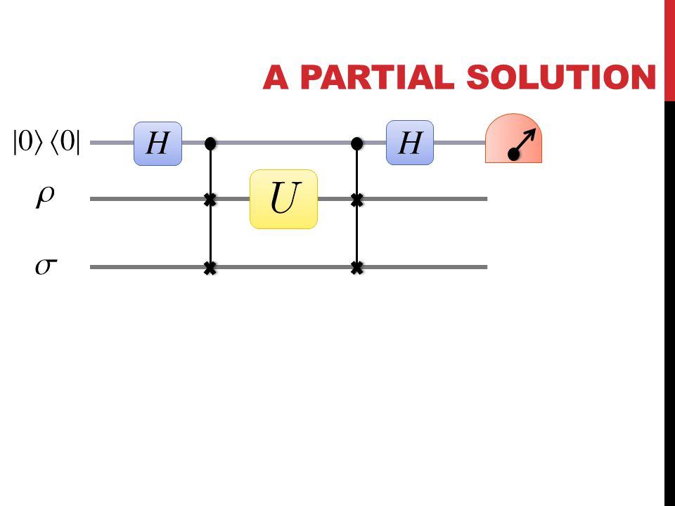 A PARTIAL SOLUTION