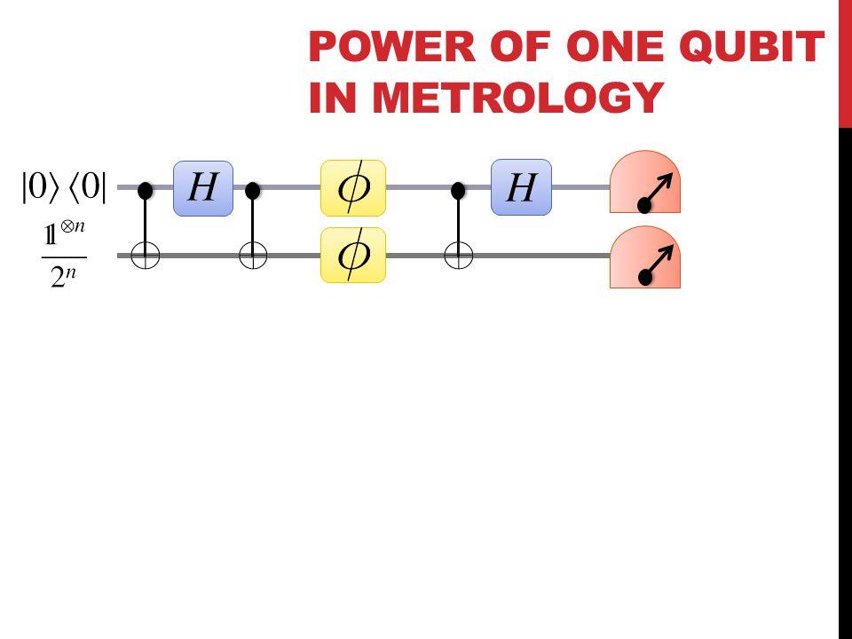 POWER OF ONE QUBIT IN METROLOGY