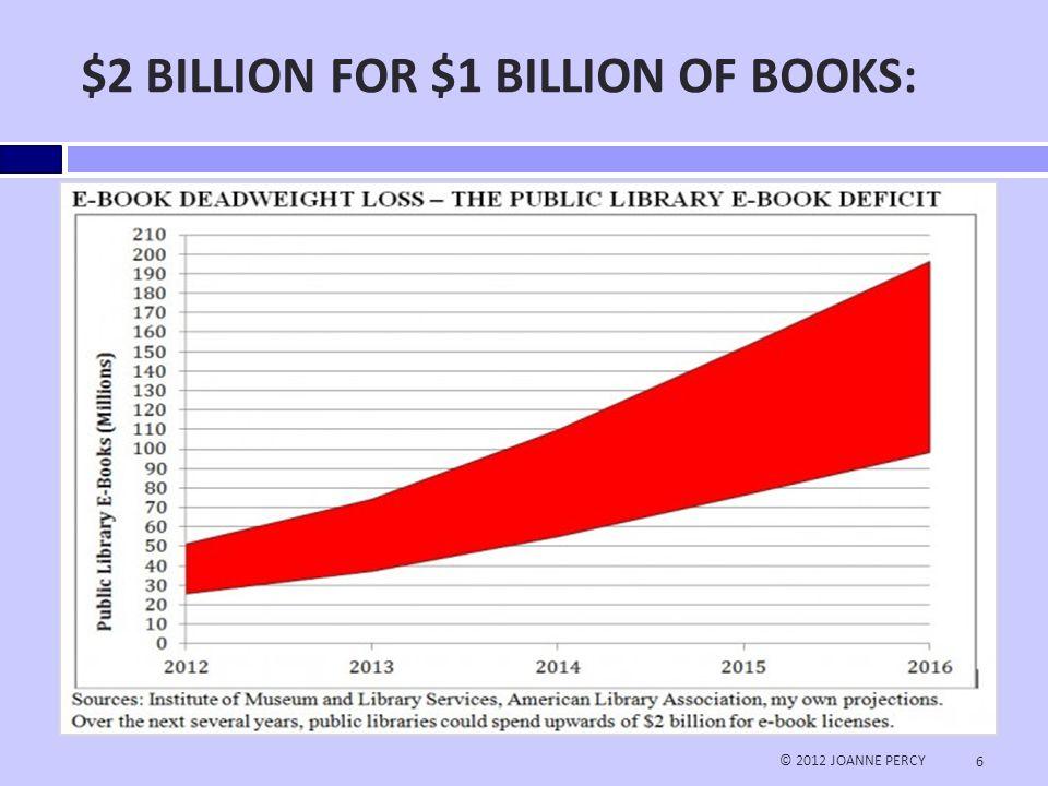 $2 BILLION FOR $1 BILLION OF BOOKS: © 2012 JOANNE PERCY 6