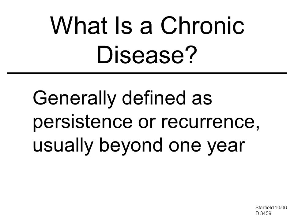 What Is a Chronic Disease.
