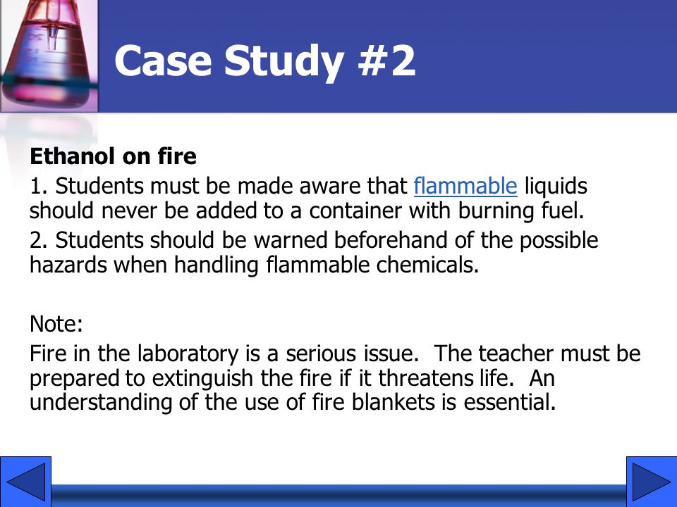 Case Study #2 Ethanol on fire 1.