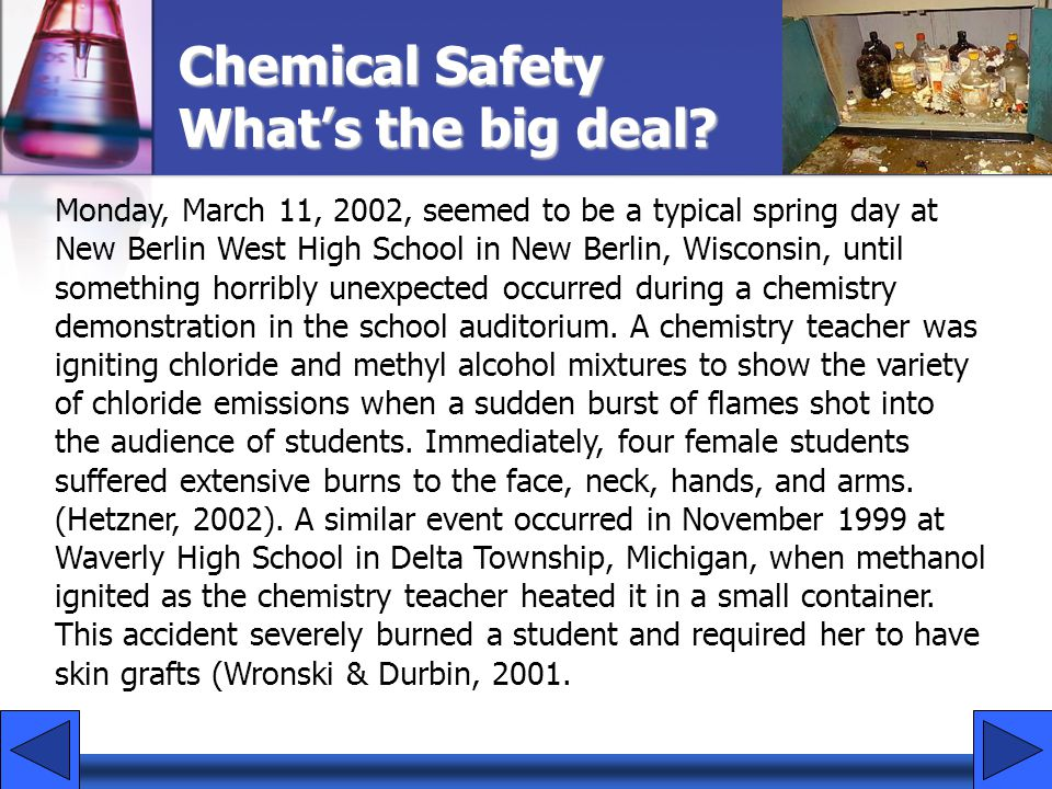 Chemical Safety What's the big deal.