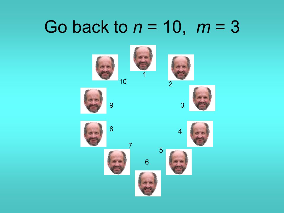 Go back to n = 10, m = 3 1 2 3 4 5 6 7 8 9 10