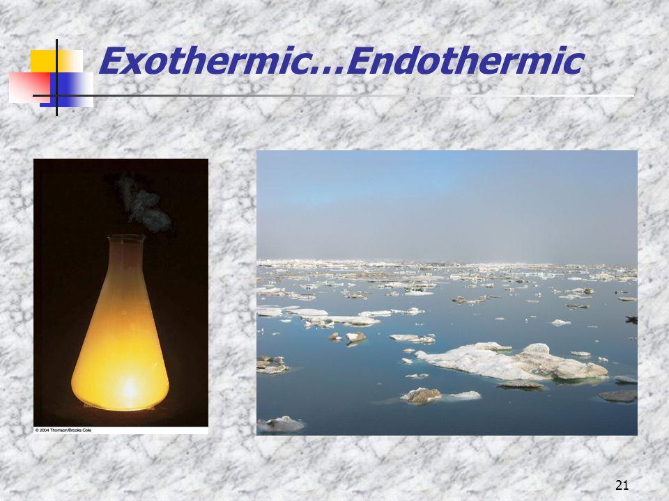 21 Exothermic…Endothermic