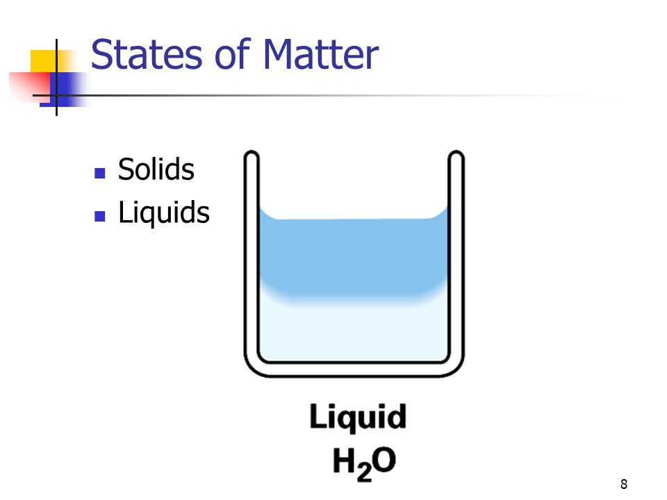 8 States of Matter Solids Liquids