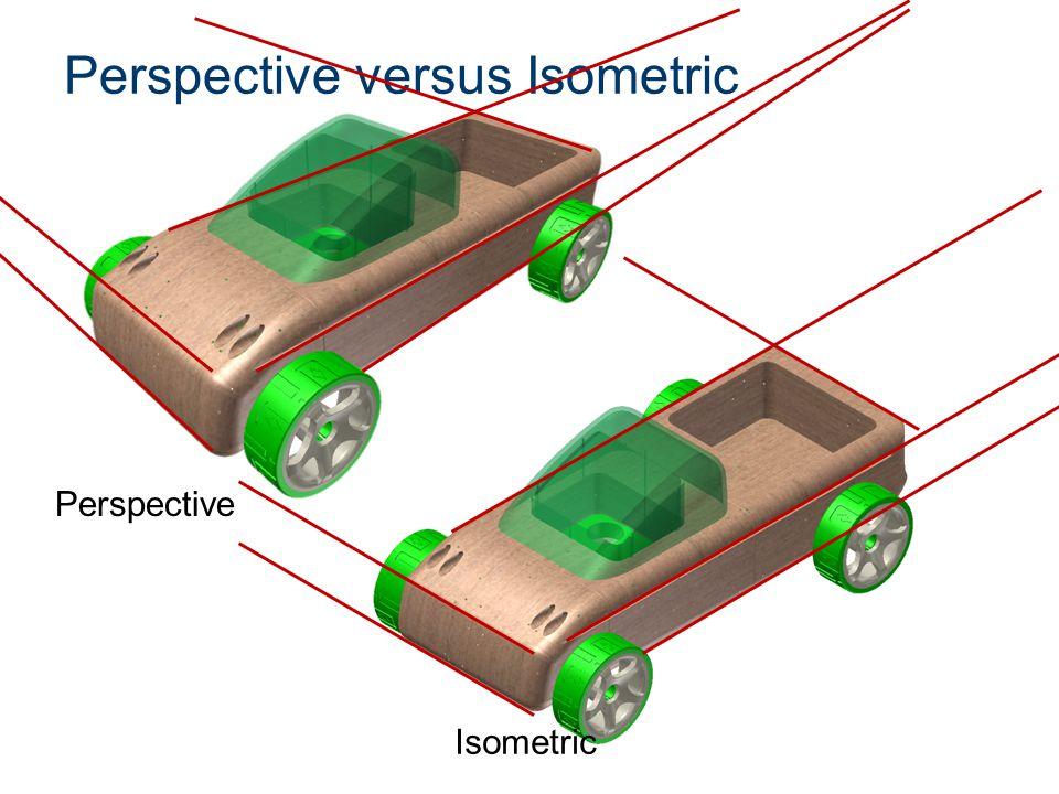 Perspective versus Isometric Perspective Isometric