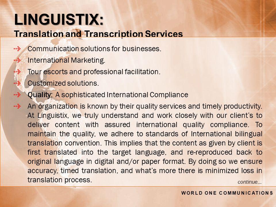 LINGUISTIX: LINGUISTIX: Translation and Transcription Services Communication solutions for businesses.