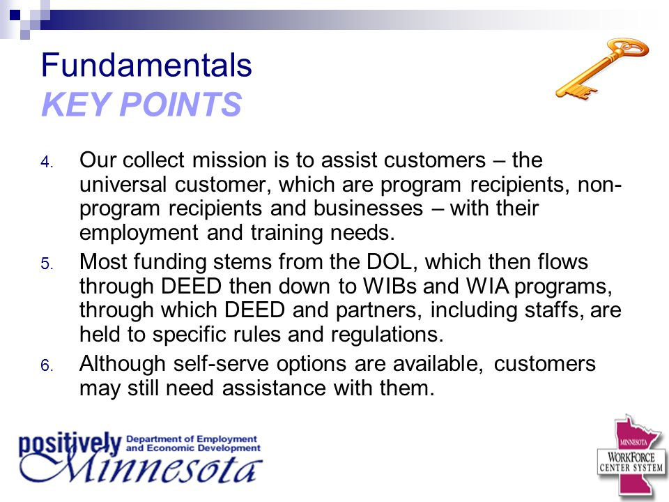 Fundamentals KEY POINTS 4.