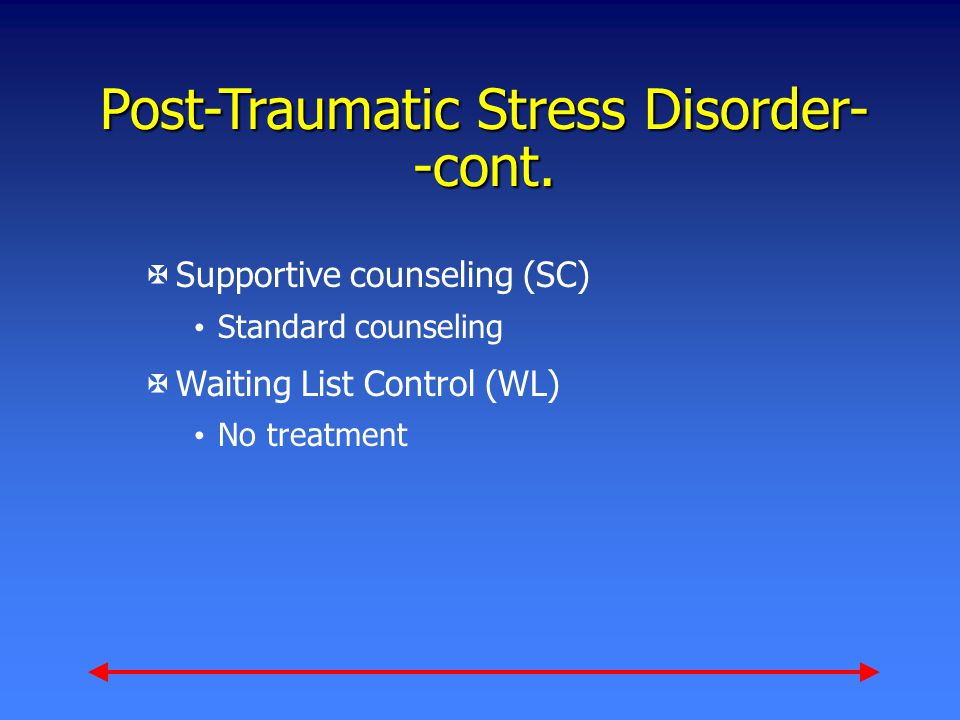Post-Traumatic Stress Disorder- -cont.
