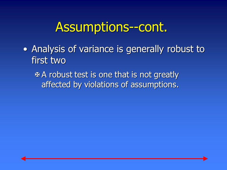 Assumptions--cont.