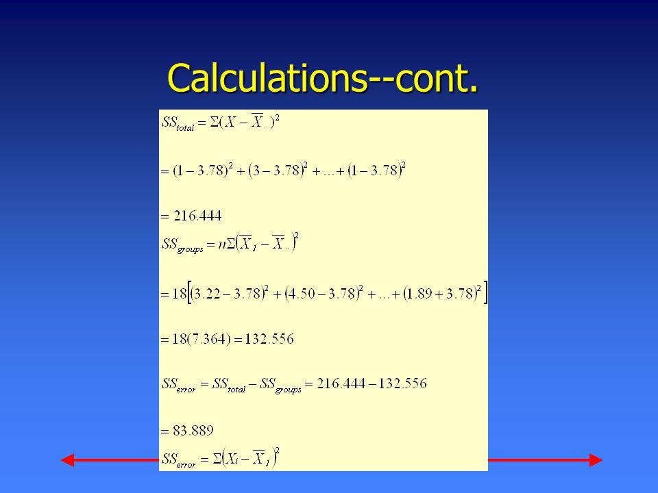 Calculations--cont.