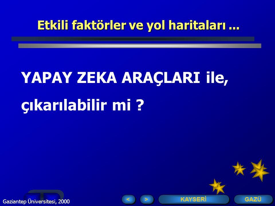 GAZÜ KAYSERİ > > < < Gaziantep Üniversitesi, 2000 Toplam Kalite ve Süreç Yönetimi ayrılmaz bir ikili...