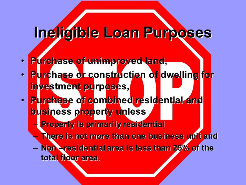 Farm Residences VA does not make farm loans .