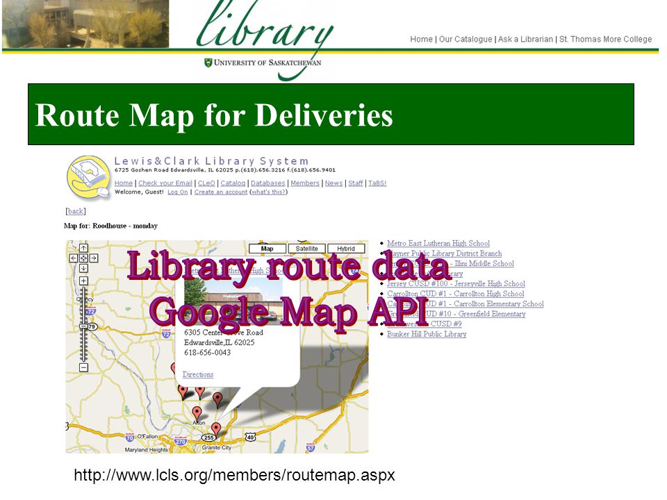 Route Map for Deliveries http://www.lcls.org/members/routemap.aspx