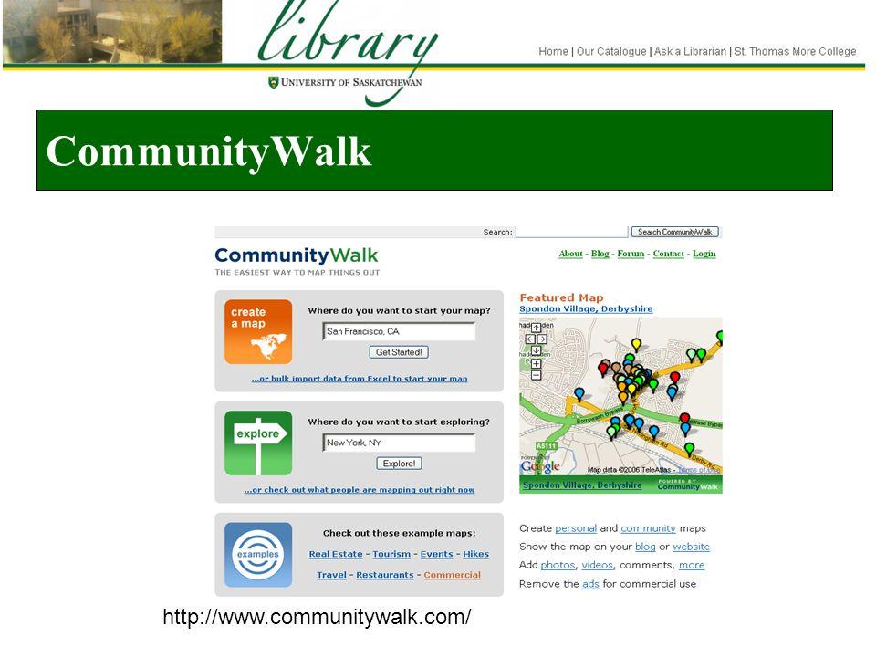 CommunityWalk http://www.communitywalk.com/