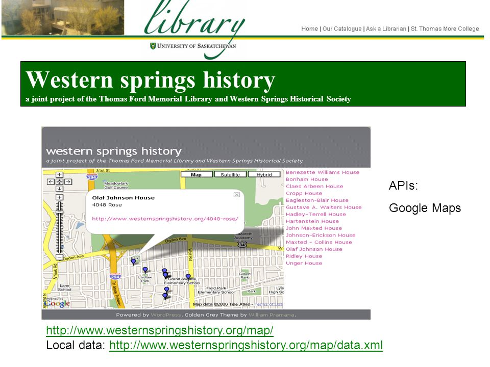 Western springs history a joint project of the Thomas Ford Memorial Library and Western Springs Historical Society http://www.westernspringshistory.or