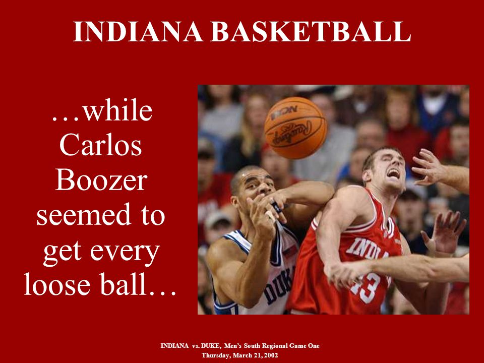 INDIANA BASKETBALL INDIANA vs.