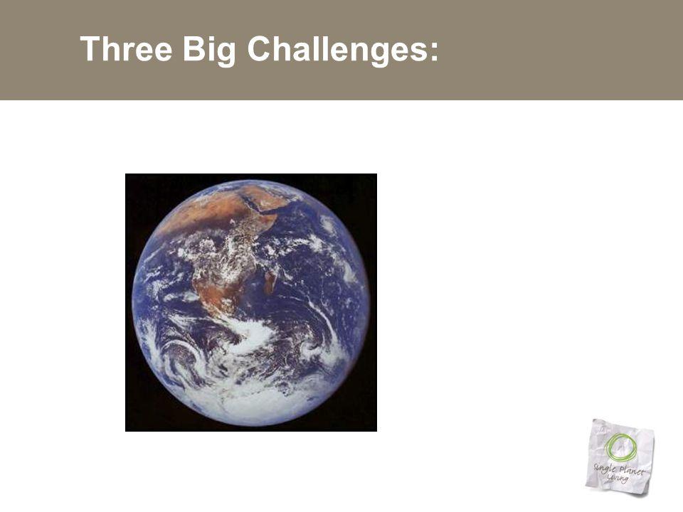 Three Big Challenges: