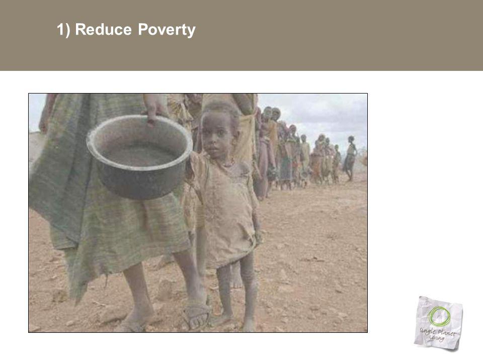 1) Reduce Poverty