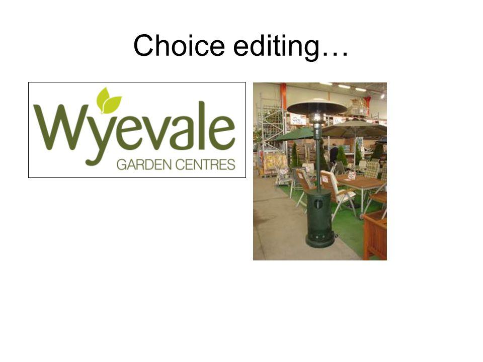 Choice editing…