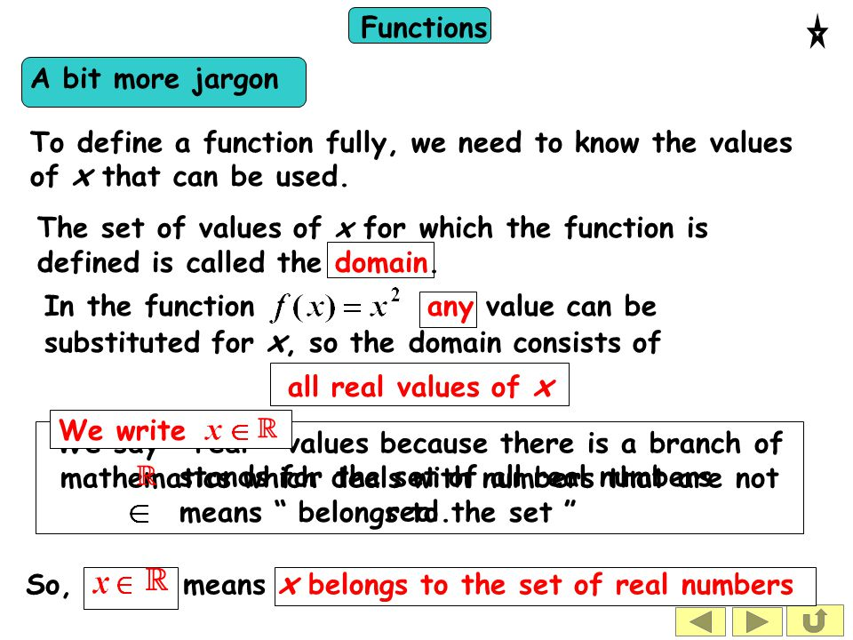 Functions What is a real number.