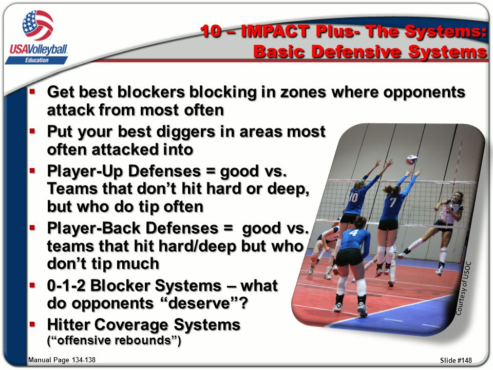  Get best blockers blocking in zones where opponents attack from most often  Put your best diggers in areas most often attacked into  Player-Up Def