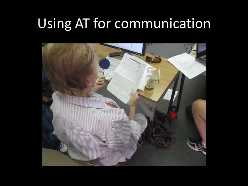Using AT for communication