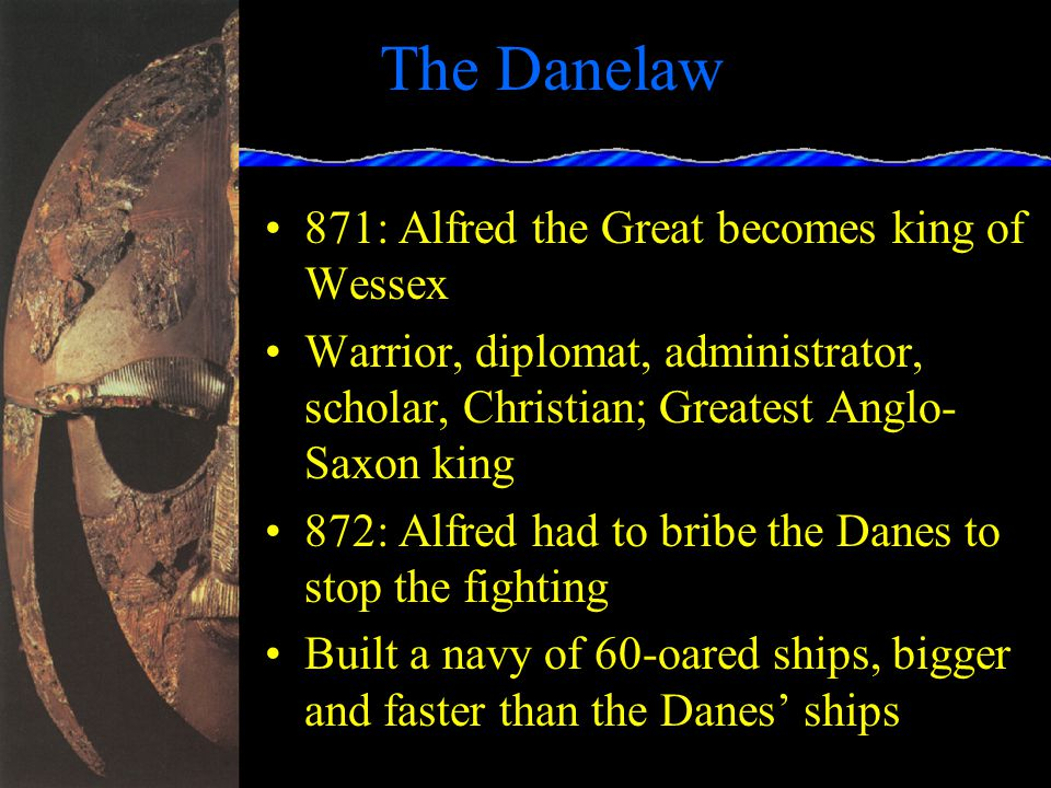 The Danelaw Viking raids in late 8 th century along East coast of England, Ireland, northern France In 850, Danish Vikings began to settle in Kent In 865, a large Danish army invaded and took control of nearly all of England except Wessex In 870, Danes attacked Wessex