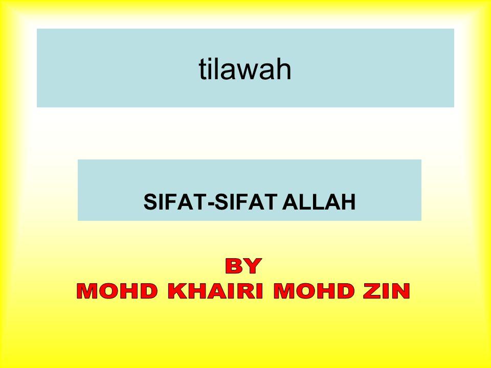 tilawah SIFAT-SIFAT ALLAH