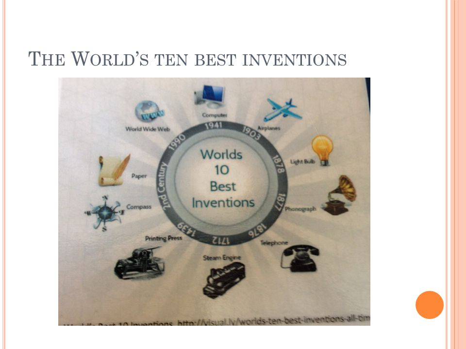 T HE W ORLD ' S TEN BEST INVENTIONS