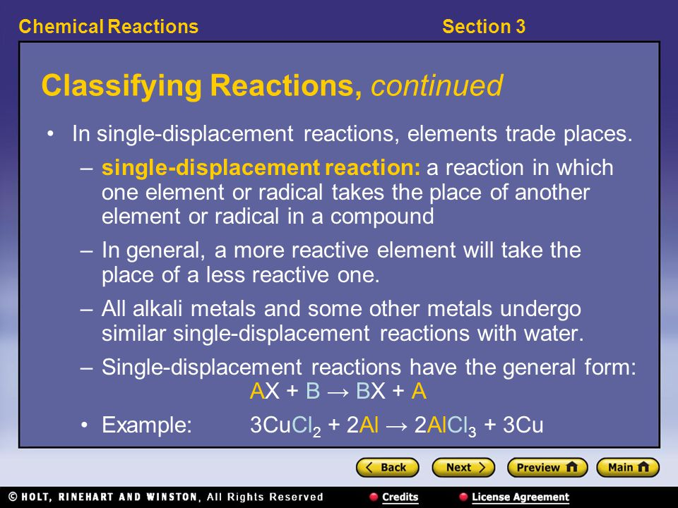 Section 3Chemical Reactions Visual Concept: Combustion Reaction