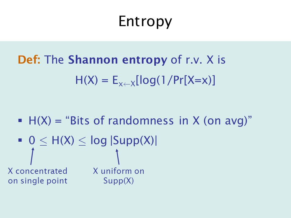 Ex: Collision-resistant Hashing Accessible Entropy= H(Y|F)+H(X|F,S 1 ) · (n-k) + neg(n) A*A* B F Ã F F = { f : {0,1} n .