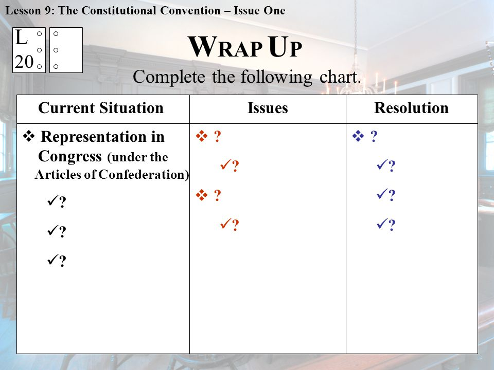 W RAP U P Complete the following chart.