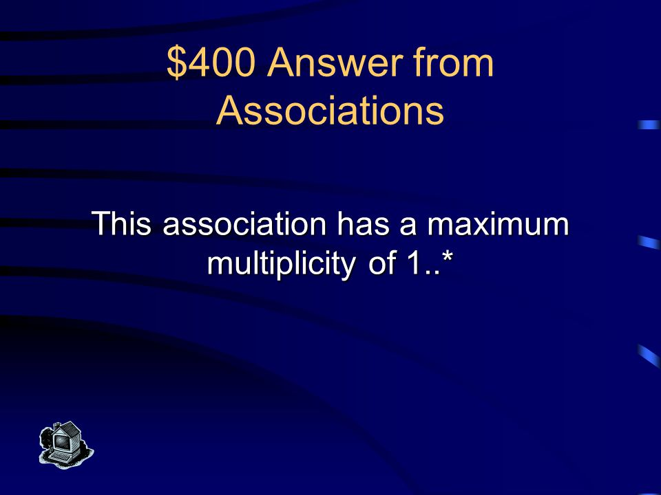 $300 Question from Associations What is a relationship (ER model)