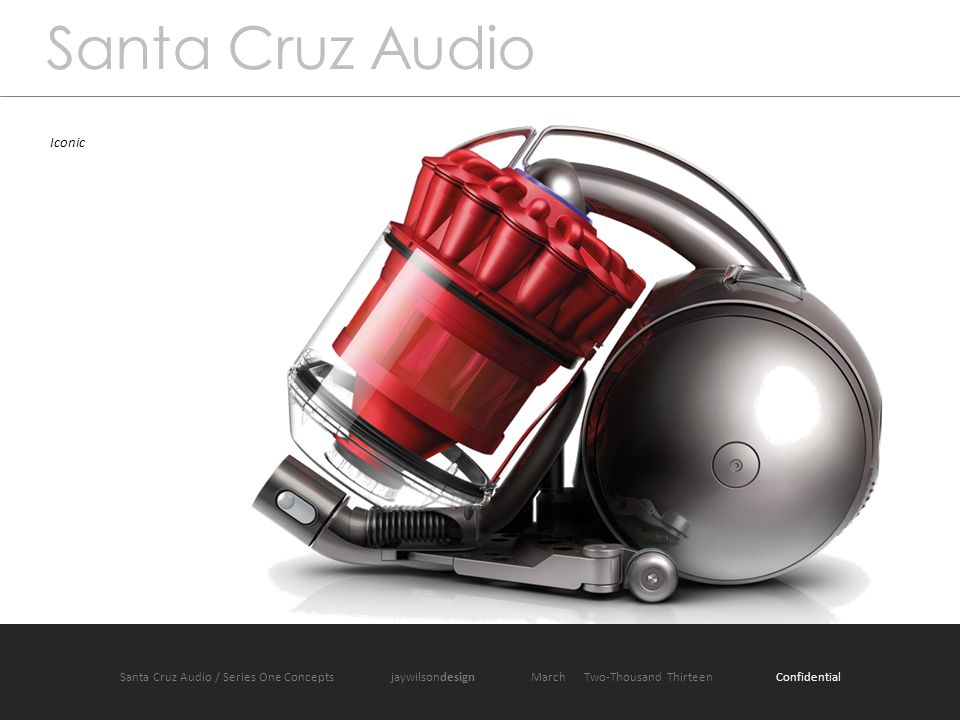 Santa Cruz Audio / Product One jaywilsondesign March 2013 Santa Cruz Audio Iconic Santa Cruz Audio / Series One Concepts jaywilsondesign March Two-Thousand Thirteen Confidential