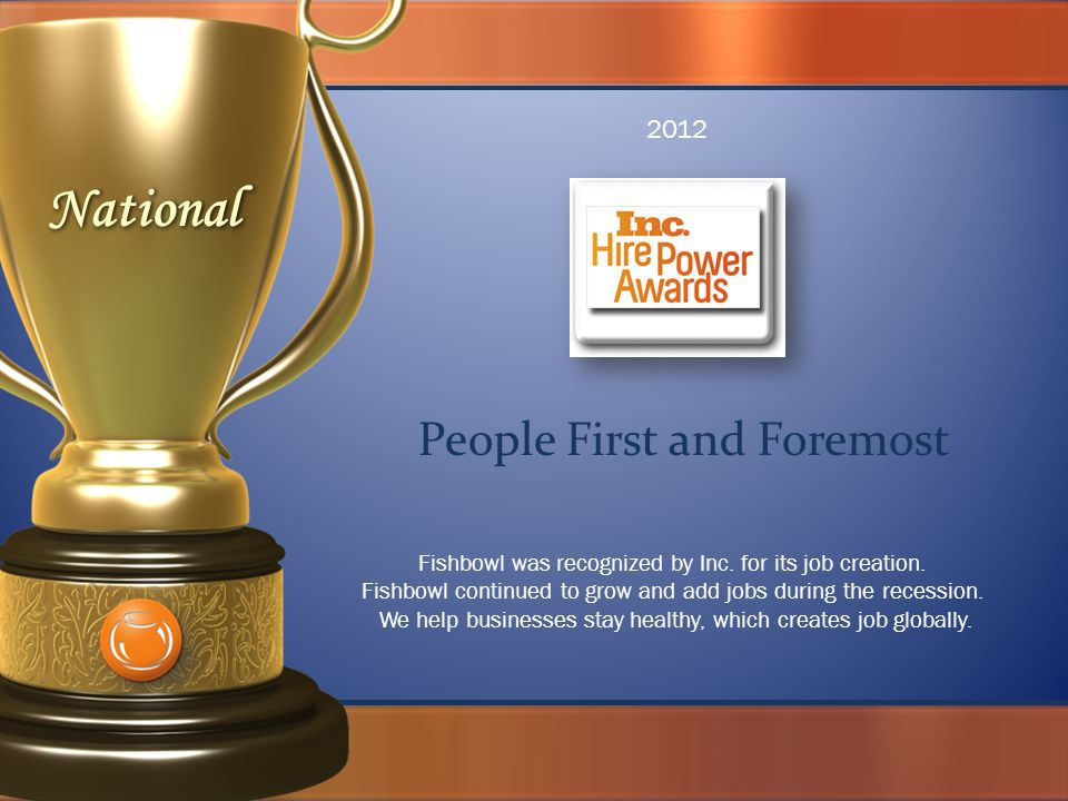 People First and Foremost Fishbowl was recognized by Inc.