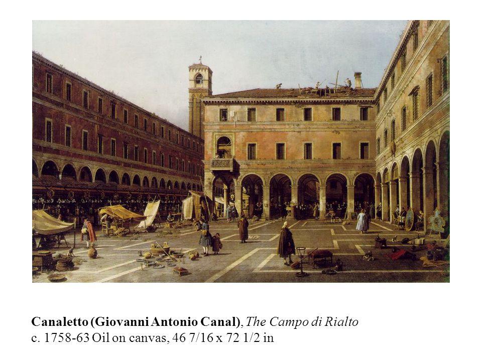 Canaletto (Giovanni Antonio Canal), The Campo di Rialto c.