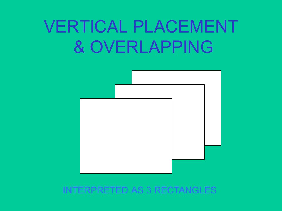 VERTICAL PLACEMENT & OVERLAPPING INTERPRETED AS 3 RECTANGLES